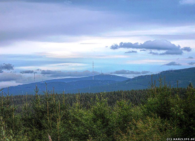 Ausblick vom Coventshai auf Torfhaus und den Brocken