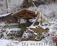 Ein Einhorn im Winter