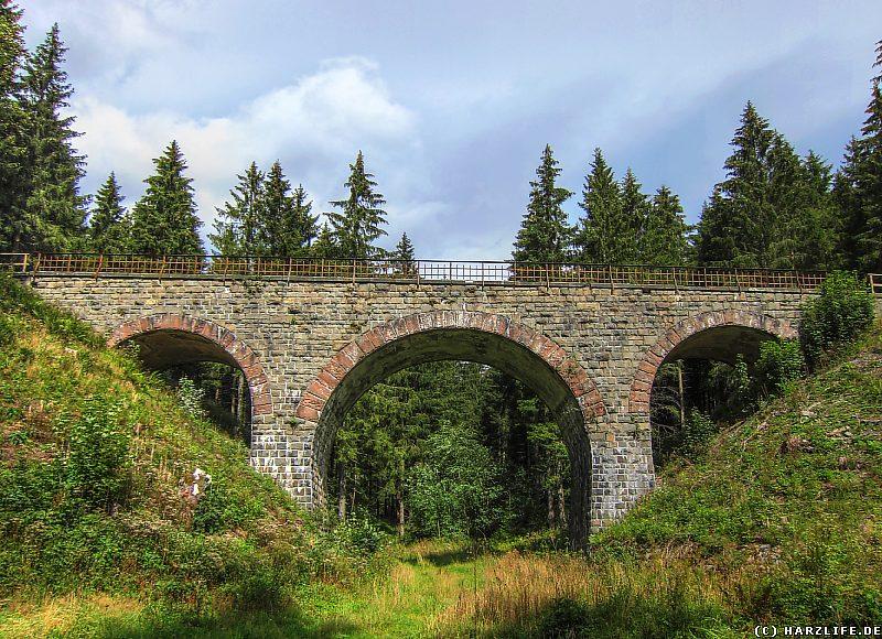 Eine Eisenbahnbrücke der Innerstetalbahn