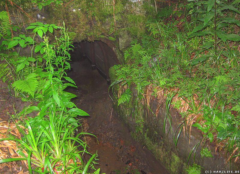 Das Mundloch des Schwarzenberger Wasserlaufes im oberen Polstertal