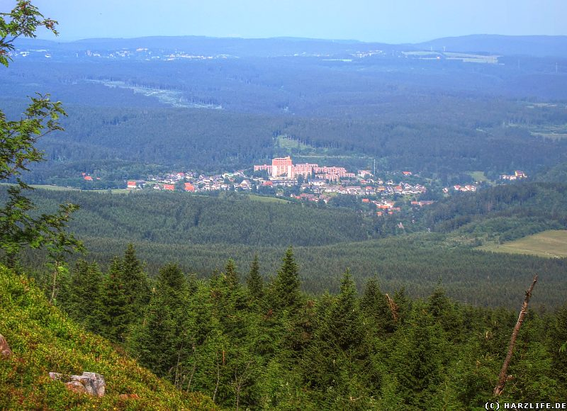 Blick von der Wolfswarte auf Altenau