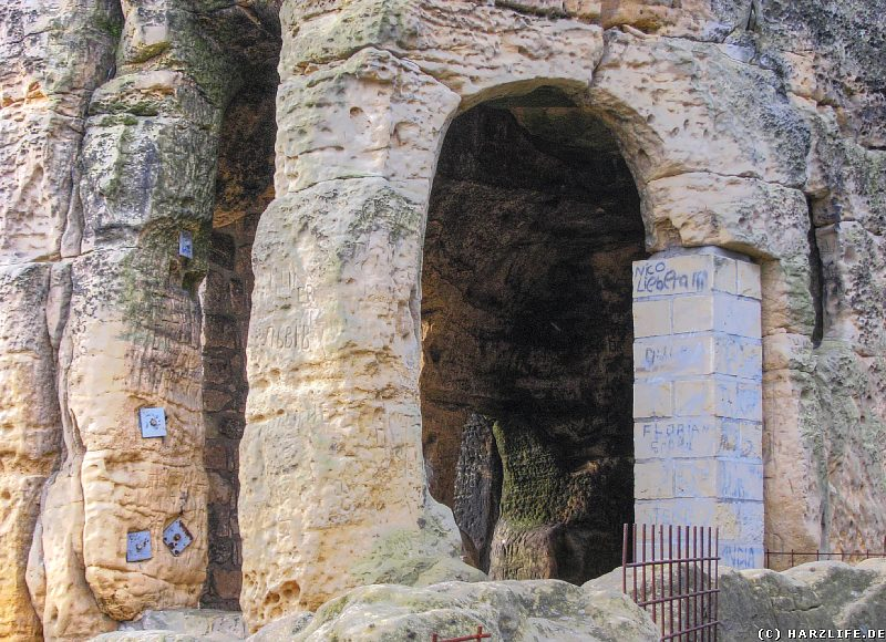 Klusfelsen - Ein Blick in das Innere der Klause