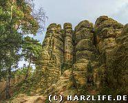 Stufen im Fels