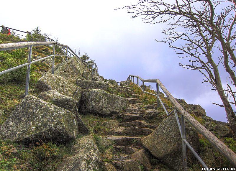 Der Aufstieg zum Gipfel der Achtermannshöhe