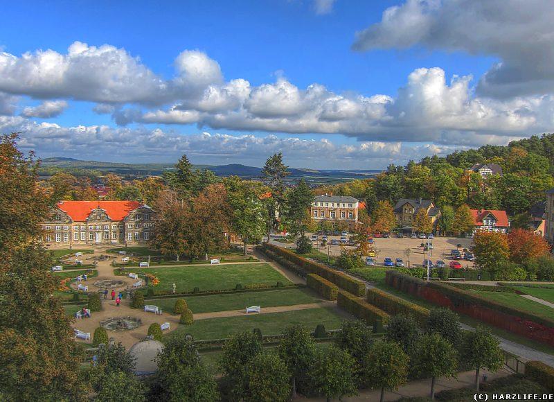 Aussicht auf den Barockgarten und das Kleine Schloß
