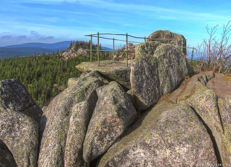 Die Aussichtsplattform auf der Leistenklippe