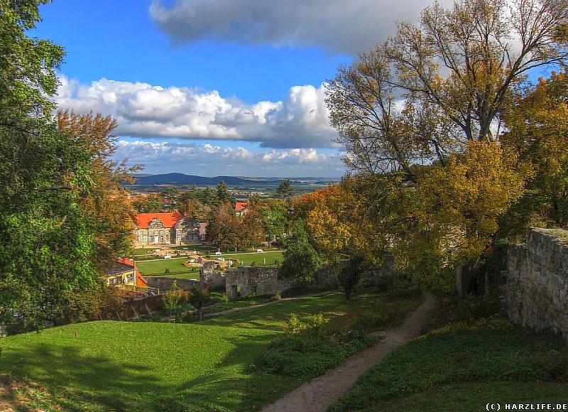 Aussicht vom Berggarten zum Kleinen Schloß
