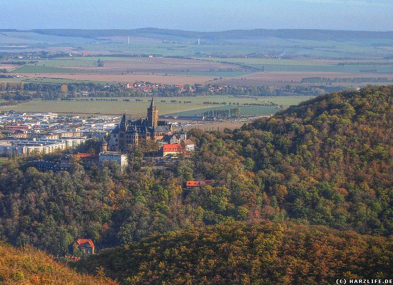 Aussicht auf das Schloß vom Kaiserturm auf dem Armeleuteberg