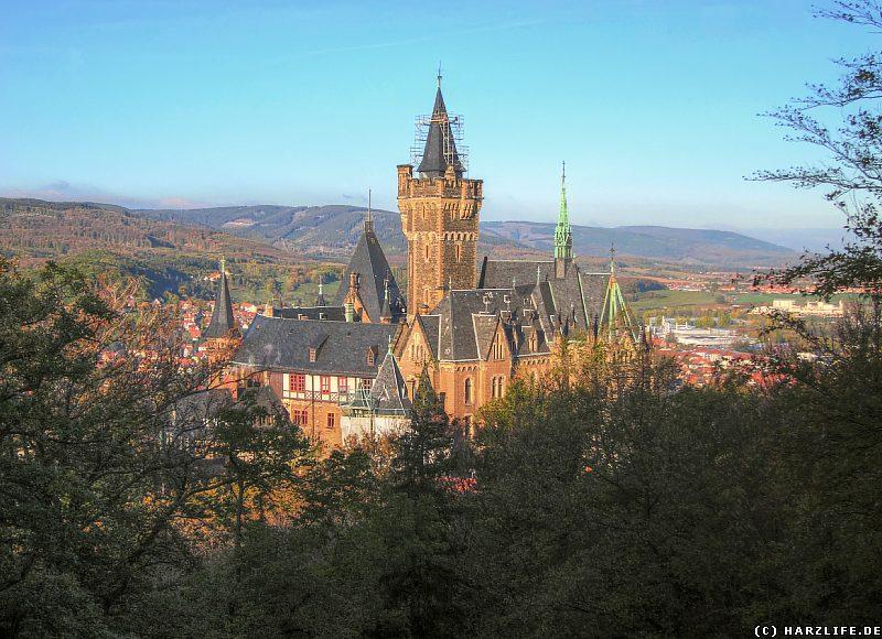 Blick vom Agnesberg auf das Schloß Wernigerode