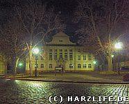Ballenstedter Rathaus bei Nacht