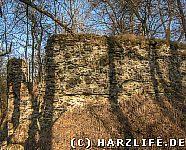 Burgmauern Ruine Heinrichsburg