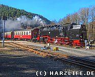 Harzquerbahn mit Dampflokomotive