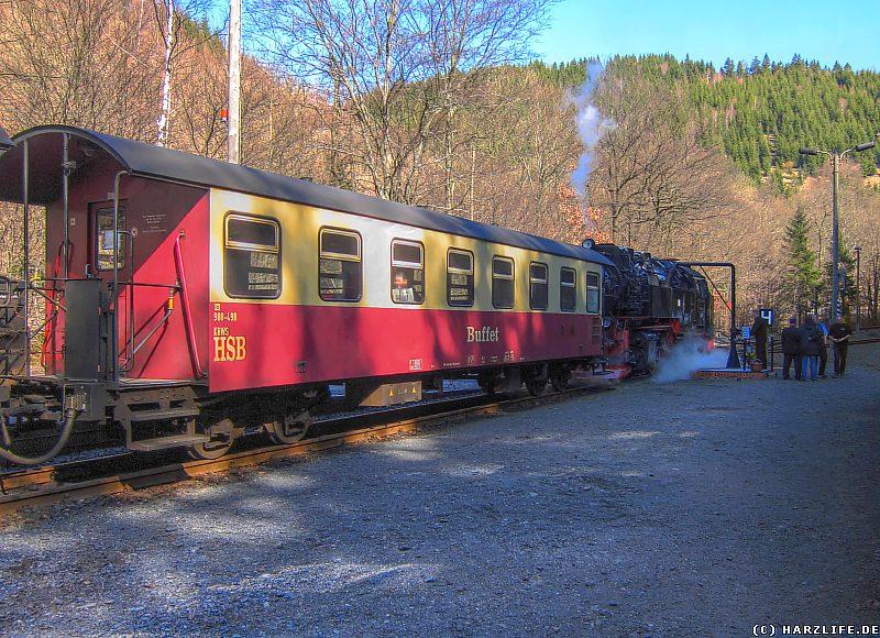 Die Harzquerbahn im Bahnhof Eisfelder Talmühle