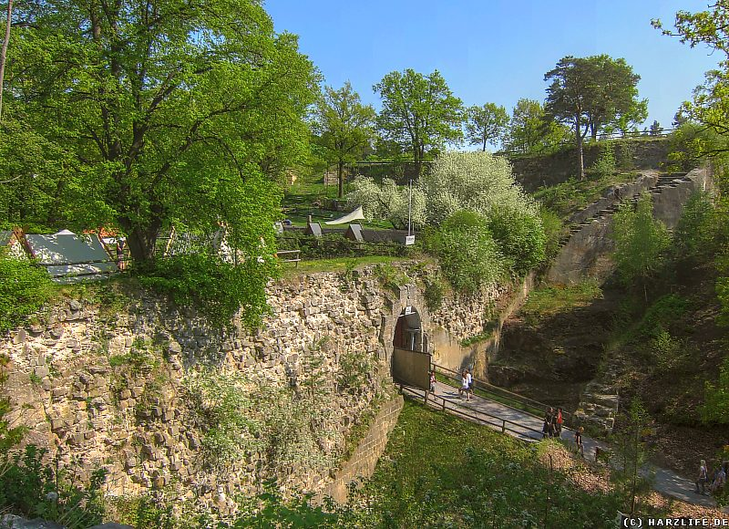 Die Burgruine Regenstein - Reste der Festungsmauer und der Toranlage