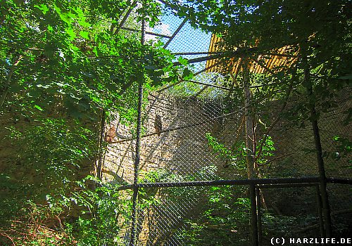 Ruine des Burgturms im Zoo von Aschersleben