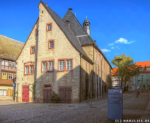 Das historische Rathaus in Sangerhausen