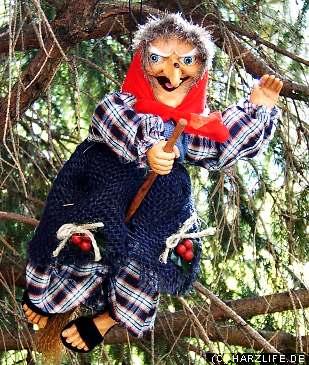 klassische Hexe auf dem Weg zur Walpurgisnacht im Harz