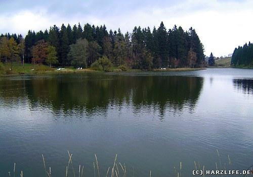 Der Schwarzenbacher Teich zwischen Buntenbock und Clausthal-Zellerfeld