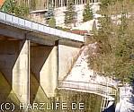 Staumauer der Überleitungssperre Königshütte