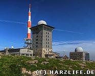 Blick auf die Brockenherberge und das Brockenhaus
