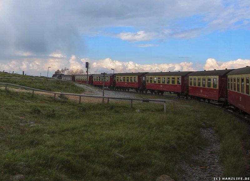 Die Brockenbahn auf dem Brockengipfel