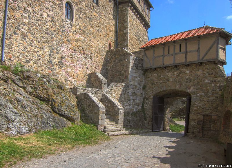 Burg Falkenstein - Das zweite Burgtor