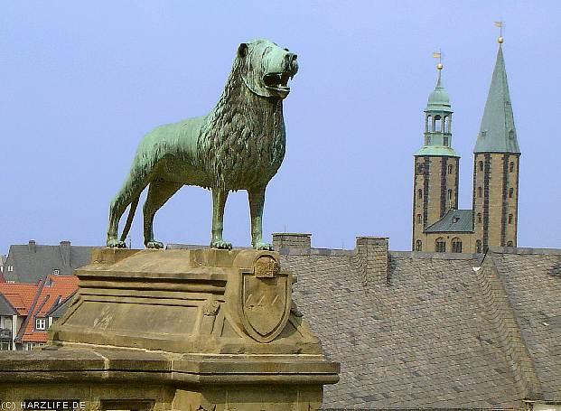 Blick auf die Marktkirche St. Cosmas und Damian