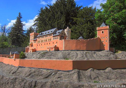 Modell der Burg Anhalt