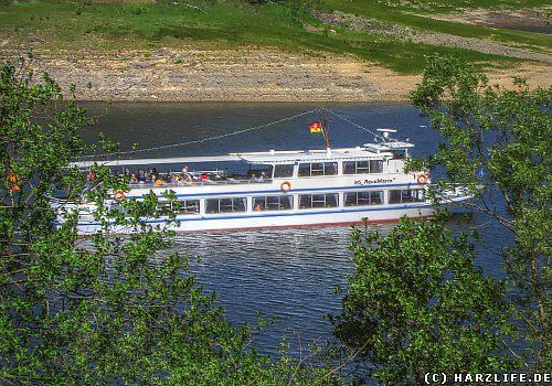 Passagierschiff auf dem Okerstausee