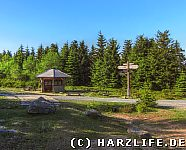 Schutzhütte Dreieckiger Pfahl