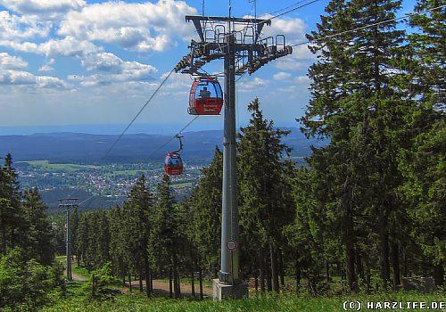 An der Bergstation der Wurmbergseilbahn