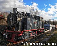 Dampflok der Mansfelder Bergwerksbahn