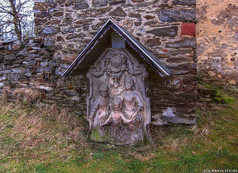 Grabstein an der Stephanuskirche in Abberode