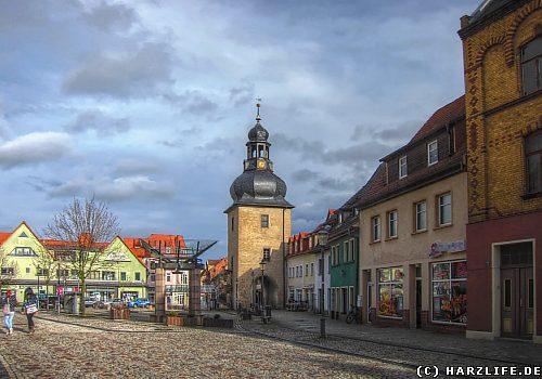 Auf dem Marktplatz von Hettstedt