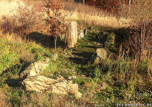 Blick auf das Megalith-Grab