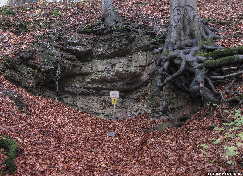 Altbergbau-Relikte an der Langen Wand