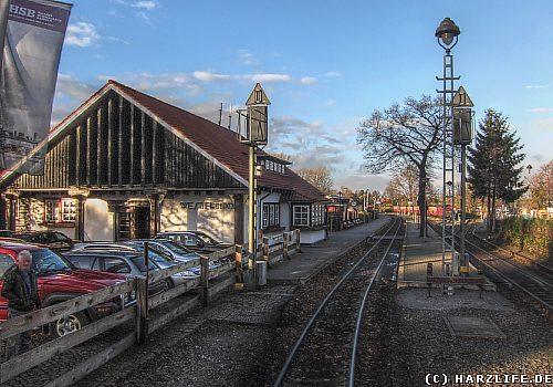 Der Bahnhof Westerntor der Harzquerbahn in Wernigerode