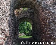 Burgruine Ebersburg Durchgang Kammertor