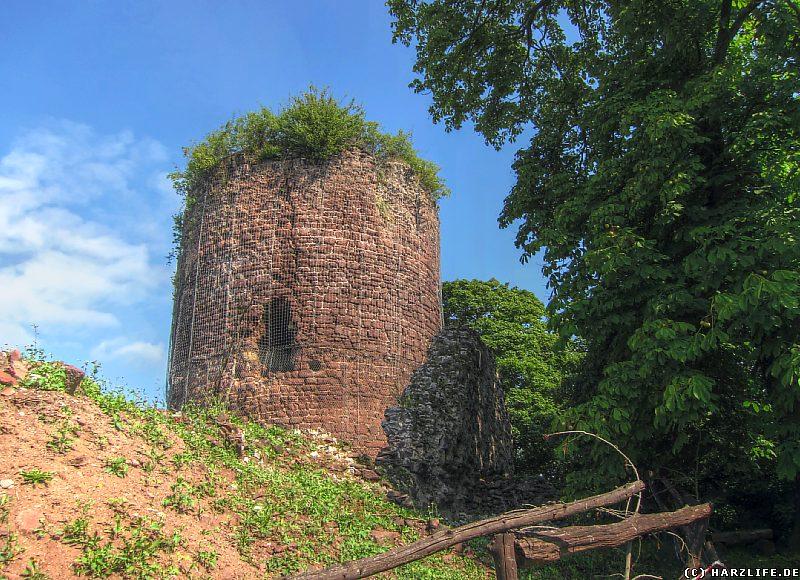 Areal der Kernburg mit Bergfried