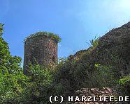 Burgruine Ebersburg Westseite mit Bergfried