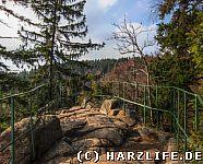 Der Aussichtspunkt Rabenklippe