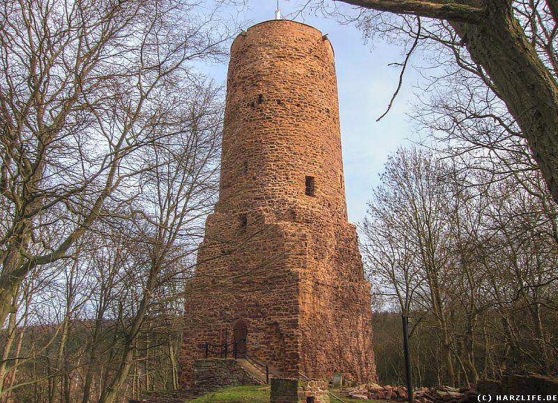 Burgruine Bornstedt - Der Bergfried