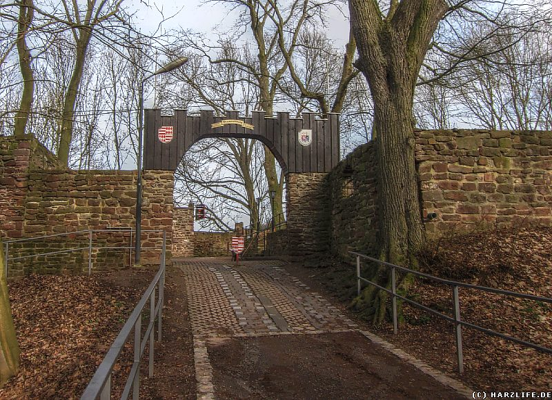 Burgruine Bornstedt - Das Burgtor