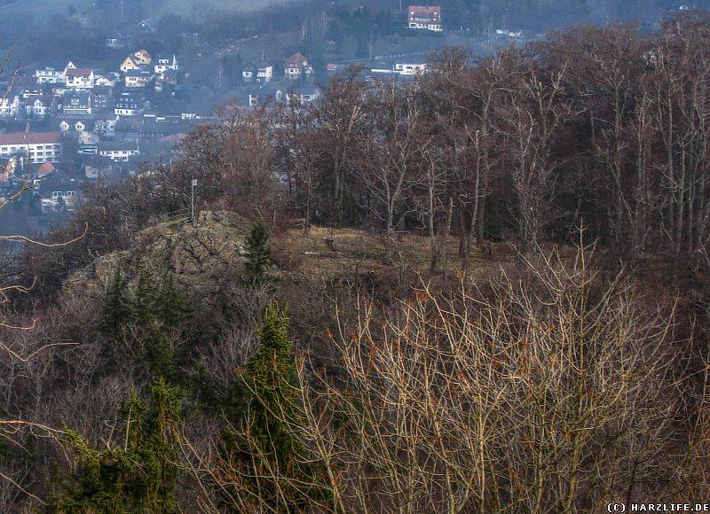 Der Blick zum Kleinen Burgberg