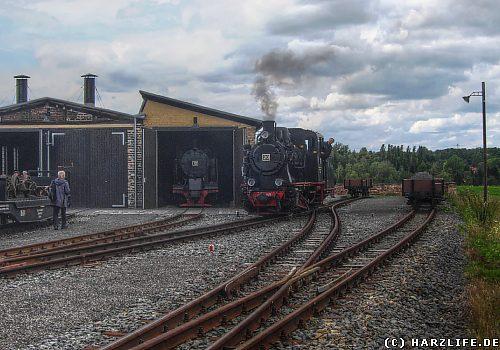 Auf dem Bahnhof Hettstedt-Kupferkammerhütte