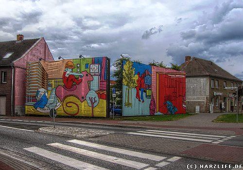 Kunstwerke der Drive-Thru-Gallery in Aschersleben