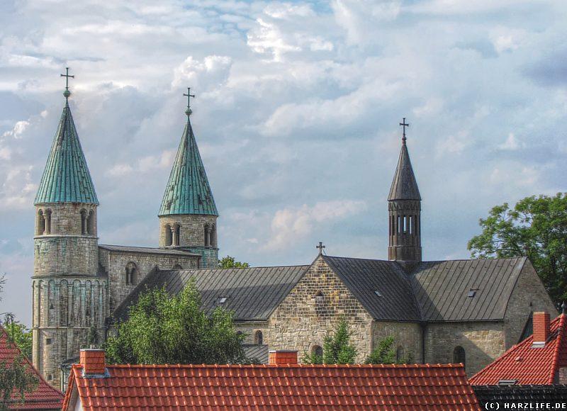 Blick zur Stiftskirche von Gernrode